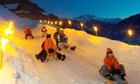 noční sáňkování ve Ski Amadé